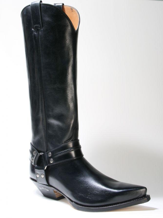 17354 Sendra Boots Cowboystiefel Hochschaft Flora Negro schwarz Rahmengenäht