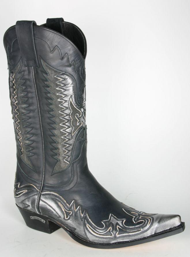 e57aeab8ca Boots By Boots - 3840 Sendra Cowboystiefel AGAVE Denver Gris Negro - Men