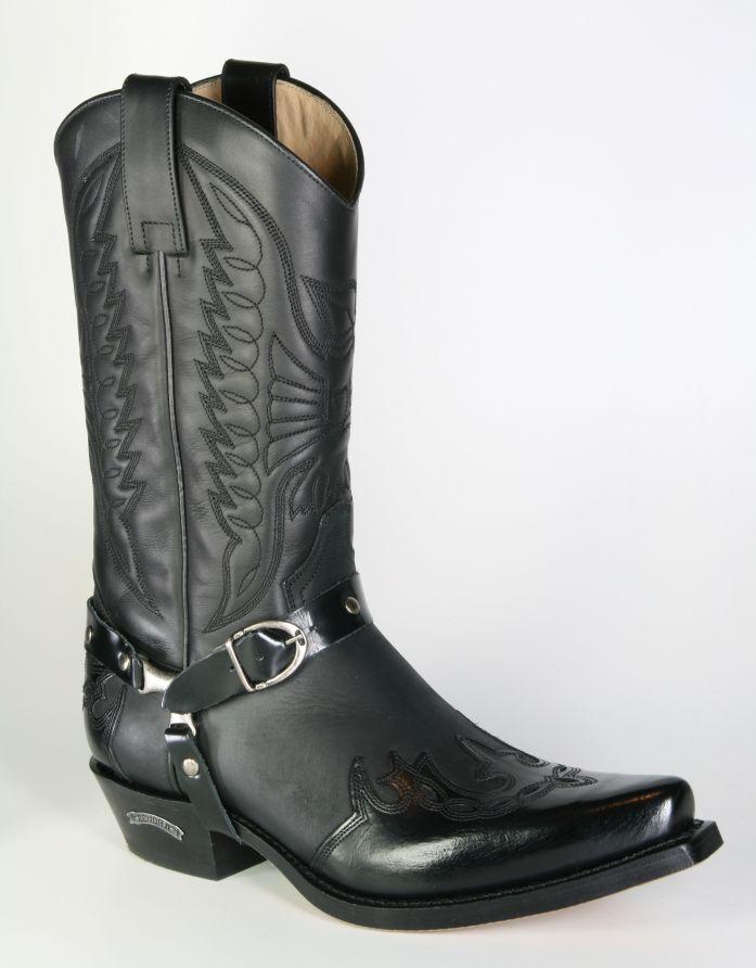 53e7dbde15 Boots By Boots - 4980 Sendra Cowboystiefel Flor. Negro Negro Flamme - Men