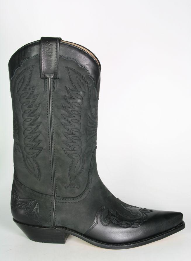 5b4b88a116 Boots By Boots - 5119 Sancho Cowboystiefel Nobuk Negro - Cowboystiefel - Men