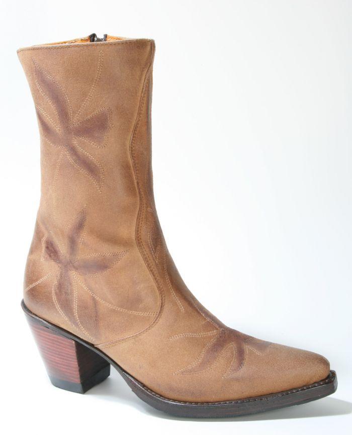 buy online 729e4 9db47 665 Sendra Boots Kurzstiefel Brown Flower