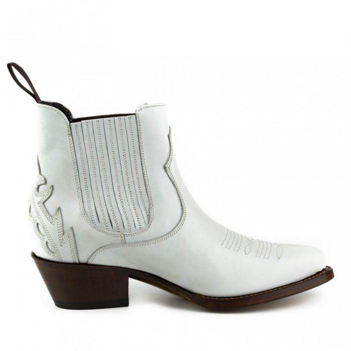 2487 Mayura Boots Cowboy Stiefeletten Marilyn Weiß