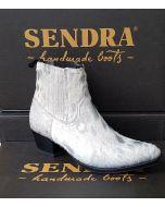 12380 Sendra Stiefelette LIA Kuhfell Blanco Silver