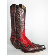 3241 Sendra Cowboystiefel Denver Rojo Python 080