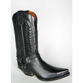 16100 3305 Sendra Cowboystiefel Bikerboots Negro