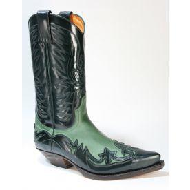 3241 Sendra Cowboystiefel Flor. Verde Nubuk Verde