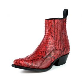 2496 Mayura Boots Stiefeletten Python Rojo