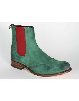10049 Sendra Chelsea Boots Wildleder Verde