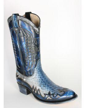 10300 Sendra Cowboystiefel TORITO Denver Azul Dirty