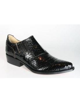 1086 Tony Mora Schuhe Python Negro