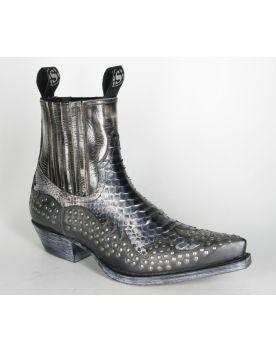 12307 Sendra Boots Stiefeletten Snowcer Negro Python