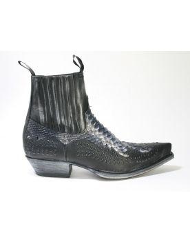 12307 Sendra Boots Stiefeletten Snowcer Negro Python schwarz