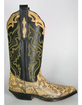 1284 Tony Mora Cowboystiefel Python Gelb