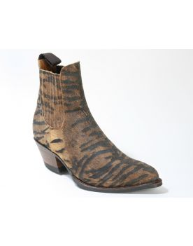 15978 Sendra Booties Animal Print Serr. Imit. Tigre