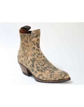 15978 Sendra Booties Animal Print Serr. Lince Natural