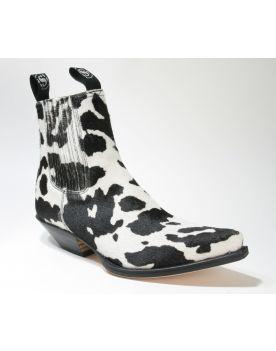 1692 Sendra Boots Stiefeletten Pelo Vaca Negro Blanco
