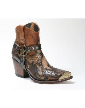 16931 Sendra Cowboystiefel LULA Natur Antic Jacinto