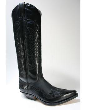 17354 Sendra Boots Cowboystiefel Hochschaft Flora Negro