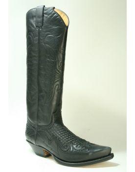 17354 Sendra Boots Cowboystiefel Hochschaft Trenzado Negro