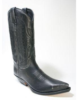 2073 Sendra Boots Cowboystiefel Raspado Negro