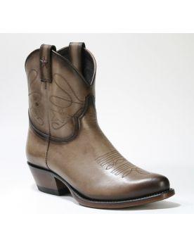 2374 Mayura Cowboy Stiefeletten Vintage Taupe