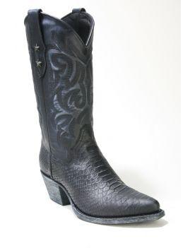 2524 Mayura Cowboystiefel Negro Lavado