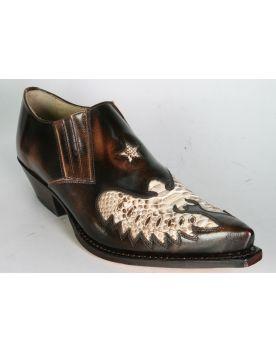 2956 Sendra Cuervo Schuhe Flor. Bronce Python