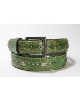 3211 Original Belts Gürtel Verde Flower