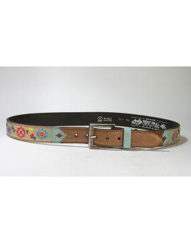 3213 Original Belts Gürtel Cuero Beige Flower 2