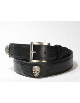 3231 Original belts Gürtel Negro Python Skulls