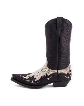 3241 Cowboystiefel Sendra WEST schwarz Python Natural