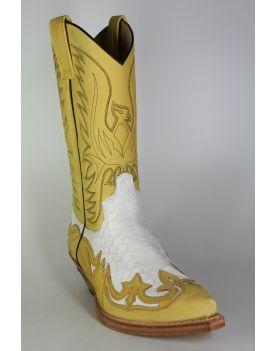 3241 Sendra Cowboystiefel N. Skimo Python Blanco