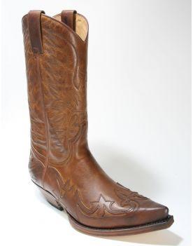 3241 Sendra Boots Cowboystiefel Evolution Tang Usado Marron