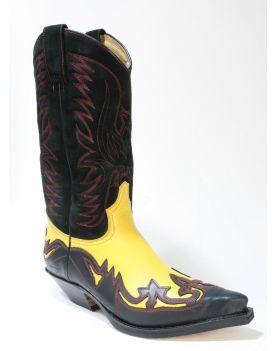 3241 Sendra Cowboystiefel Spr. Negro Rocio Sol