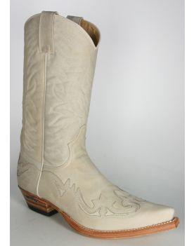 3241 Sendra Cowboystiefel Off White Usado Negro H