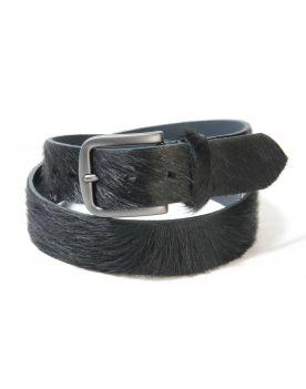 380 Vittozzi Gürtel Fell schwarz