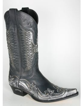 3840 Sendra Cowboystiefel AGAVE Denver Gris Negro