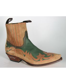 7826 Sendra Bottines Salvaje Forest flaschengrün Bottes De Cowboy