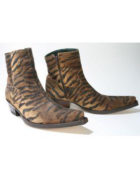 4984  Sendra Boots Animal Print Stiefelette Tigre