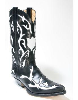 5059 Sendra Boots Cowboystiefel Ciclon Negro X Blanco