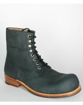 5221 HOBO Charly Vienna Schnürstiefelette coal black