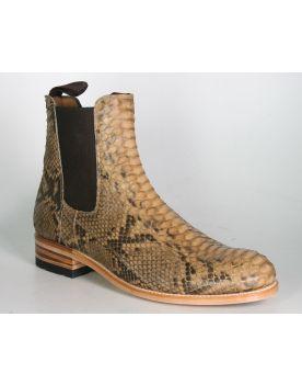 5595 Sendra Chelsea Boots Python Camel