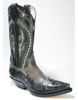 6033 Sendra Cowboystiefel Negro Grey