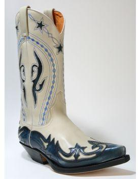 6073 Sendra Boots Cowboystiefel Denver Azul Dirty