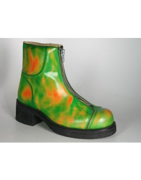 6077 Sancho Schuhe Fantasy Green