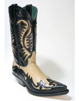 6480 Sendra Boots Cowboystiefel Ciclon Negro Salvaje Corda