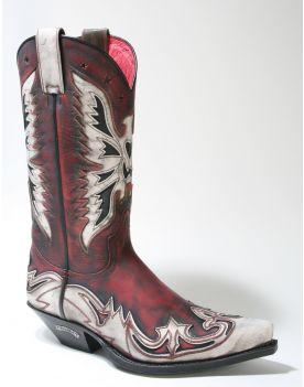 6885 Sendra Boots Cowboystiefel Hurricane Marfil Lavado Old