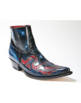 7482 Sendra Boots JAVI Denver Azul Python Rojo