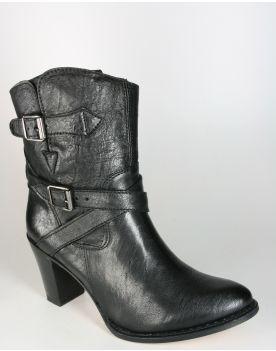 7614 Sendra Ankle Boots Medusa Negro