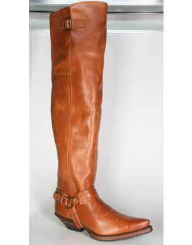 7977 Sendra Boots Overknees Snowbut Cognac
